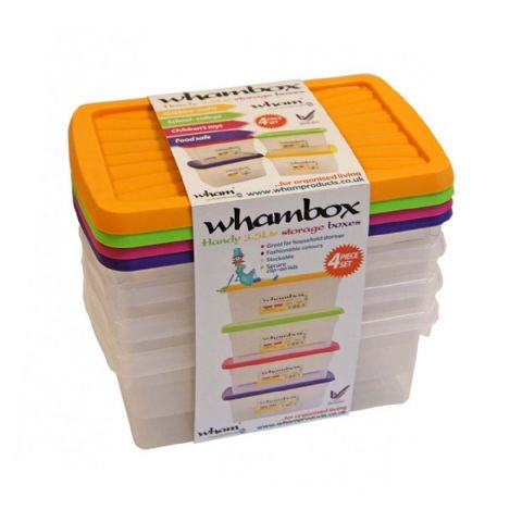 Whambox Handy 3.5L Storage Boxes Set of 4